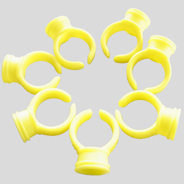 Yellow Makeup Ring Ink Cap Holders